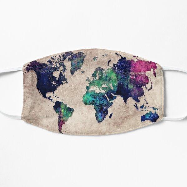 World map watercolor 1 Flat Mask