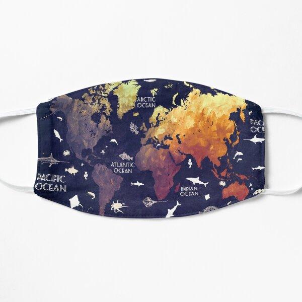 world map 11 Flat Mask