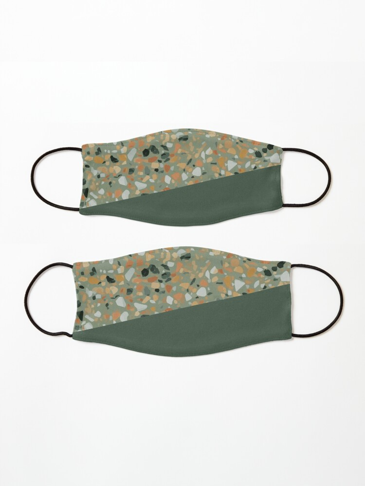 Alternate view of Terrazzo Texture Military Green #4 Mask