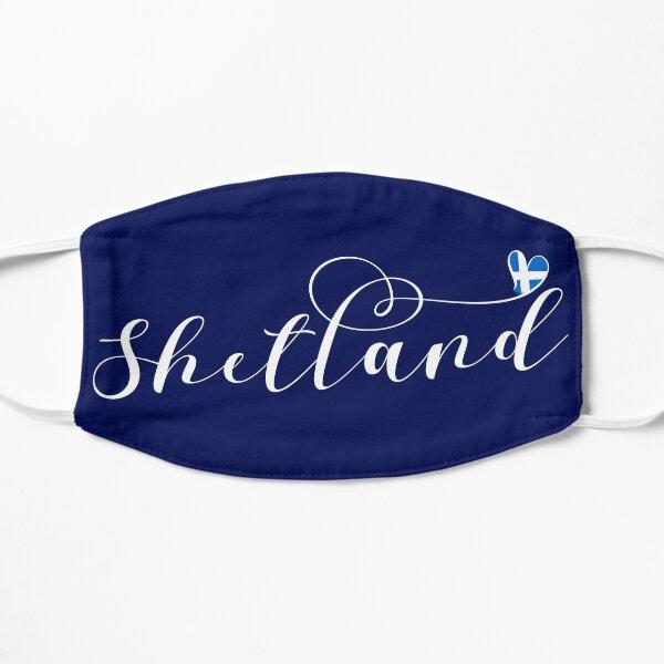 Heart Shetland Flag, Shetland Islands Flat Mask