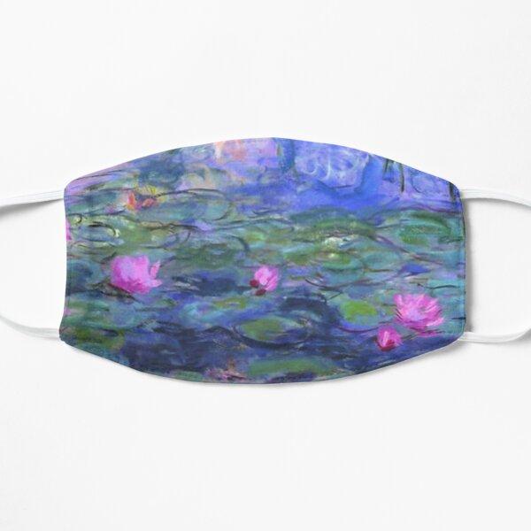 Water lilies blue Flat Mask