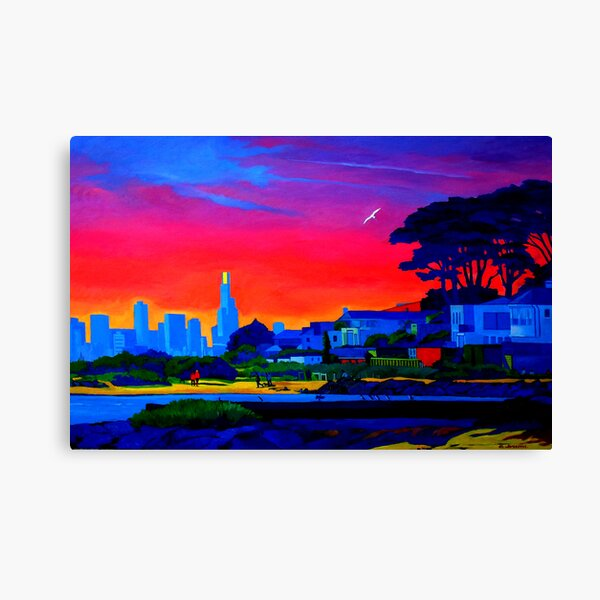 Brighton Park Sunset Canvas Print