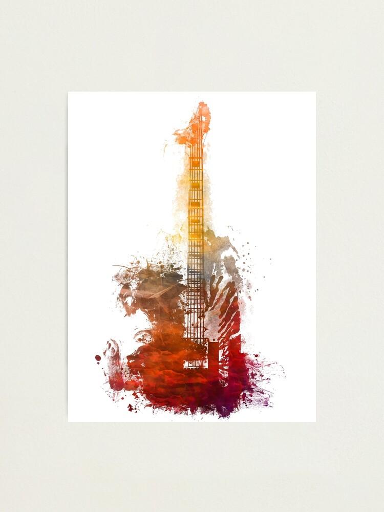 Alternate view of Fantasy guitar #guitar Photographic Print