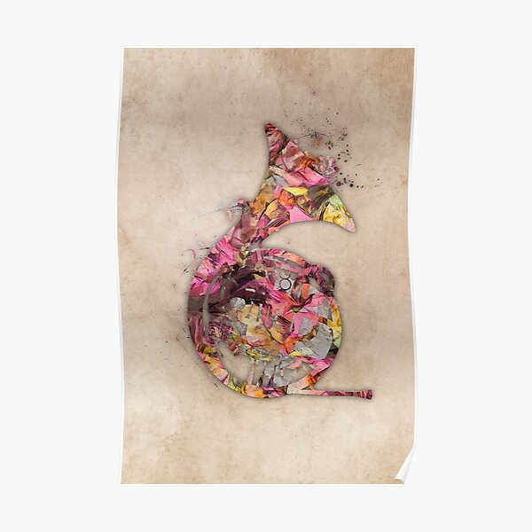 French horn #frenchhorn #music Poster