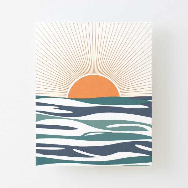 Sunrise by the sea Canvas Mounted Print