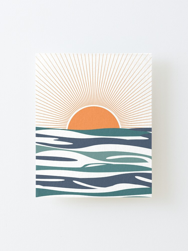 Alternate view of Sunrise by the sea Mounted Print