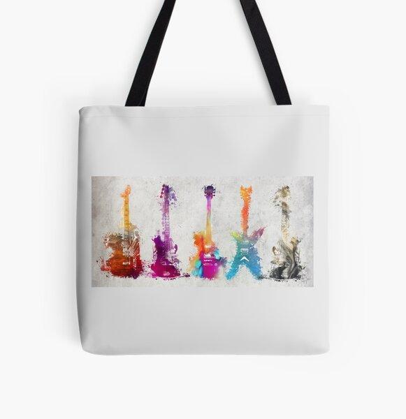5 guitars #guitar #guitars All Over Print Tote Bag