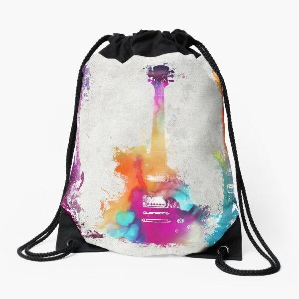5 guitars #guitar #guitars Drawstring Bag