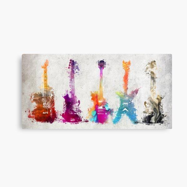 5 guitars #guitar #guitars Canvas Print