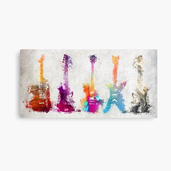 5 guitars #guitar #guitars Metal Print