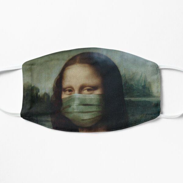 Mona Lisa With Face Mask Mask