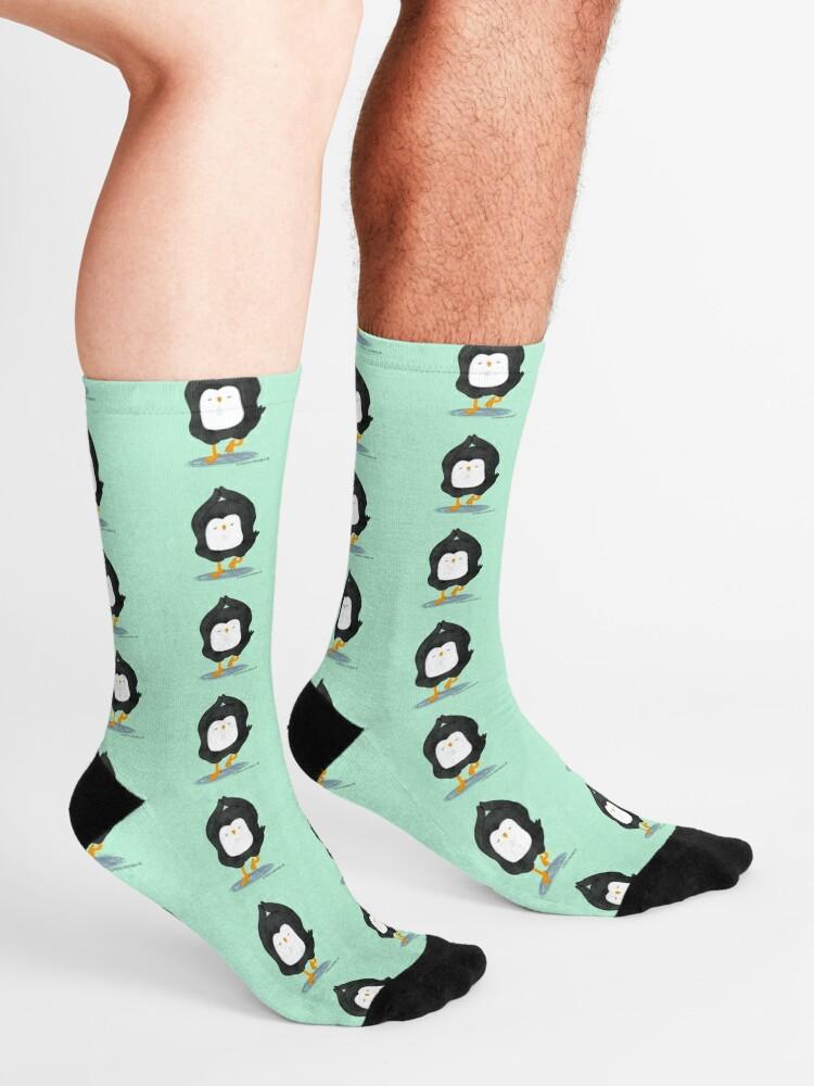 Alternate view of Yoga Penguin Socks