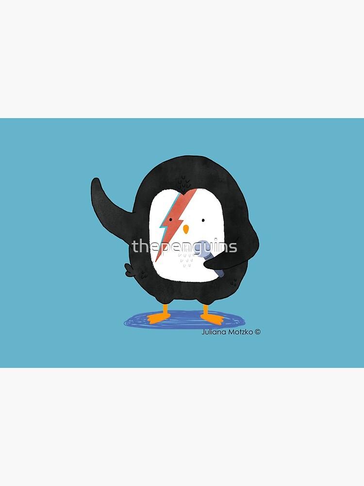 Penguin Ziggy Stardust by thepenguins