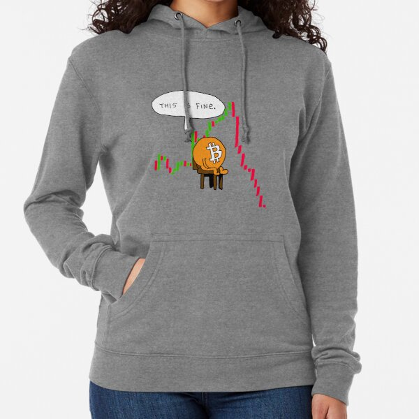 Bitcoin Crash - This is Fine Comic Lightweight Hoodie