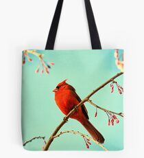 Cardinal & Cherry Blossoms Tote Bag