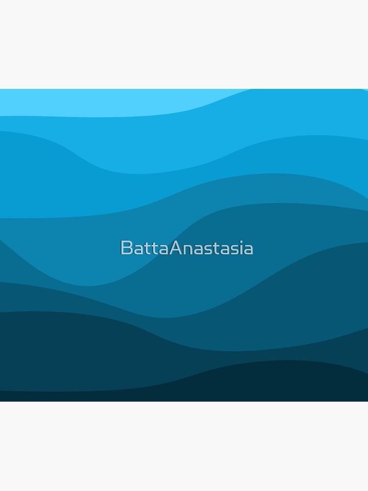 Blue wavy ocean by BattaAnastasia