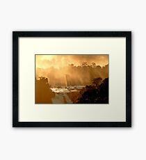 sunrays at Iguassu Falls Framed Print
