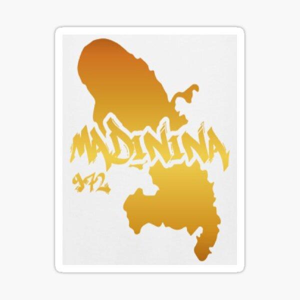 Madinina 972 Gold Martinique Sticker fini brillant