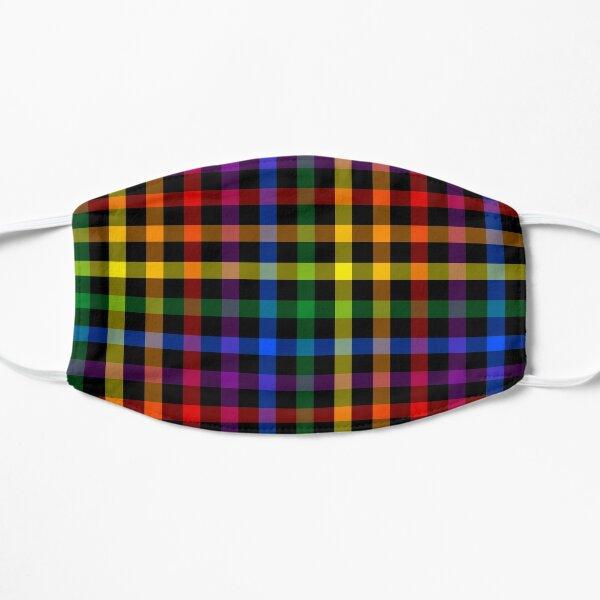 Gay Pride Rainbow Plaid Mask