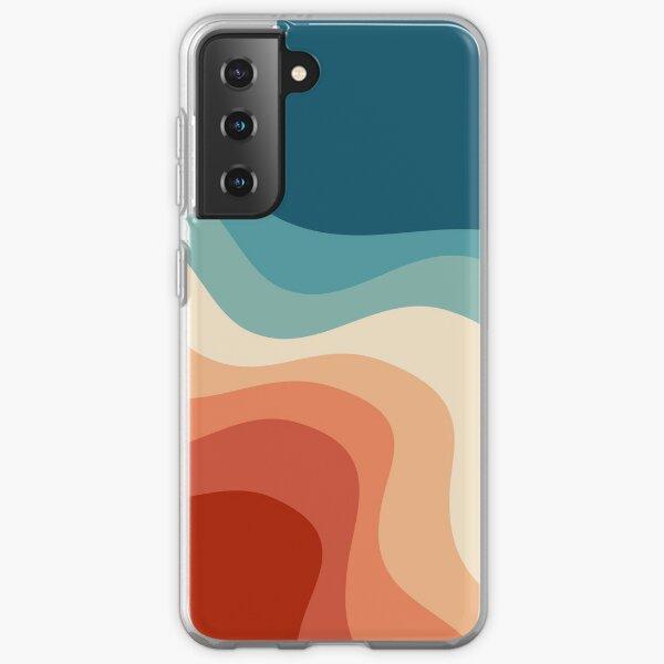 Retro style waves Samsung Galaxy Soft Case