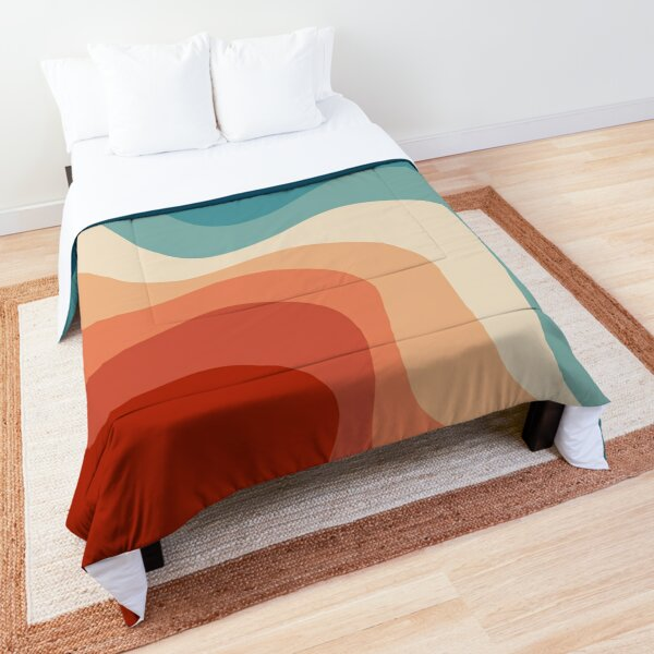 Retro style waves Comforter