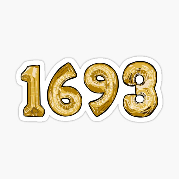 William and Mary 1693 balloons Sticker