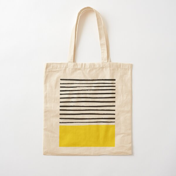 Sunshine x Stripes Cotton Tote Bag
