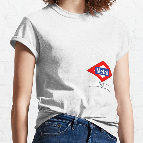 Placa de la estación de Metro de Sol Camiseta clásica