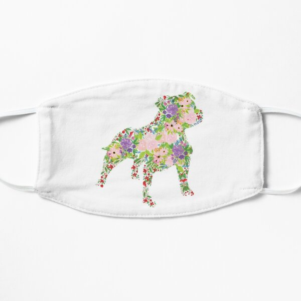 Floral Staffordshire Bull Terrier Mask