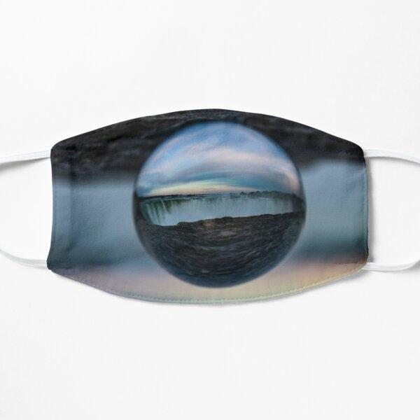 niagara falls in a ball Flat Mask