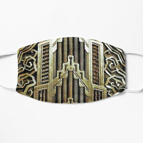 Design art nouveau métallique, vintage, élégant, chic, art nouveau, belle epoque, beau, or, métallique, moderne Masque sans plis