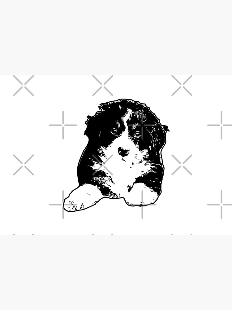 Bernese Puppy Vector by tribbledesign