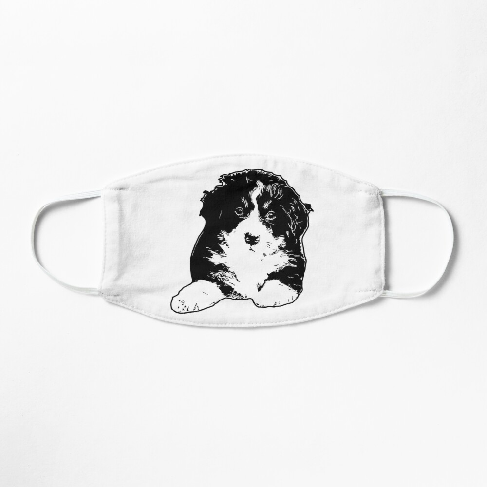 Bernese Puppy Vector Mask