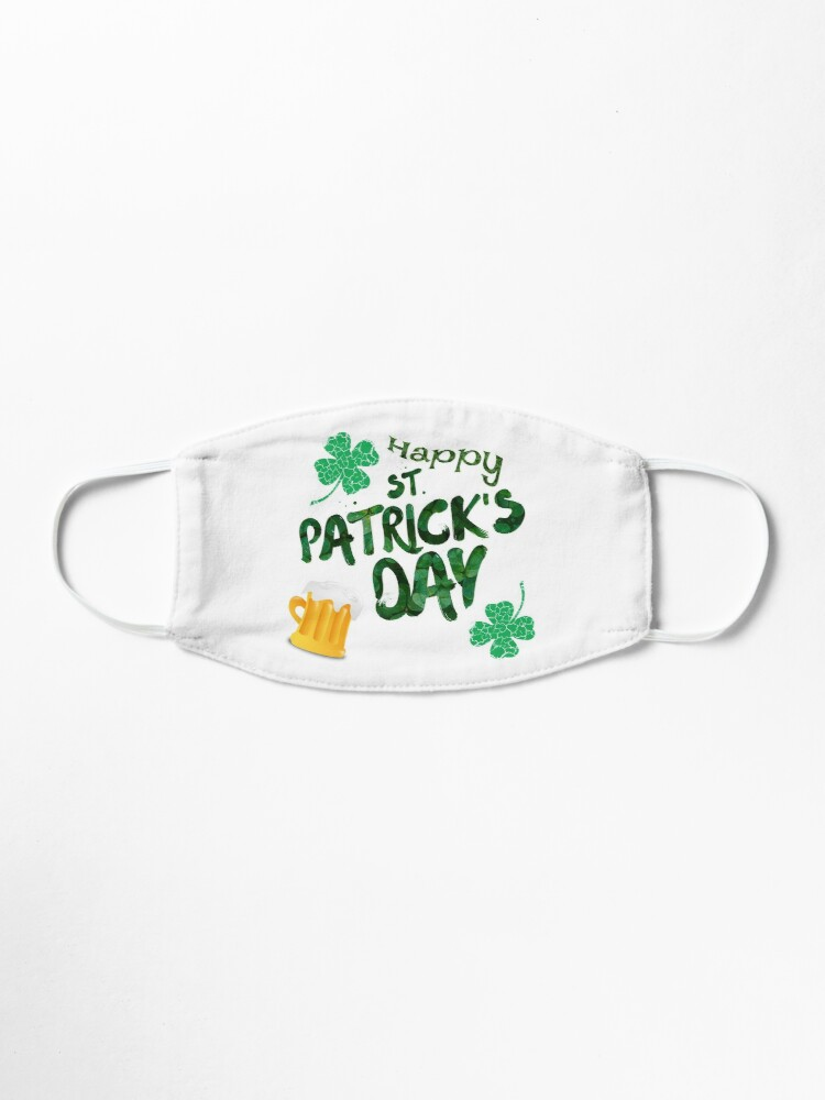 Alternate view of Happy St Patrick's Day Mask
