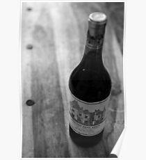 Bottle of Fine Wine Poster