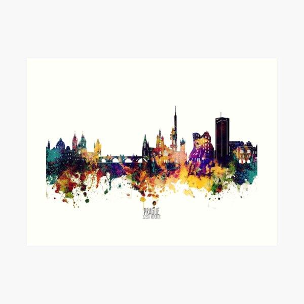 prague skyline Art Print