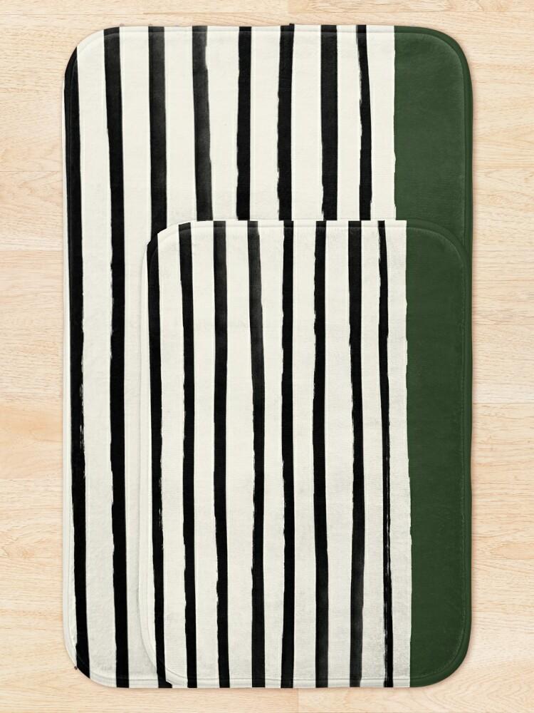 Alternate view of Forest Green x Stripes Bath Mat