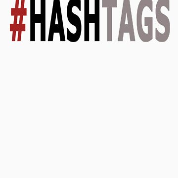 Twitter Hashtag (Black/Grey) by Wanglepop