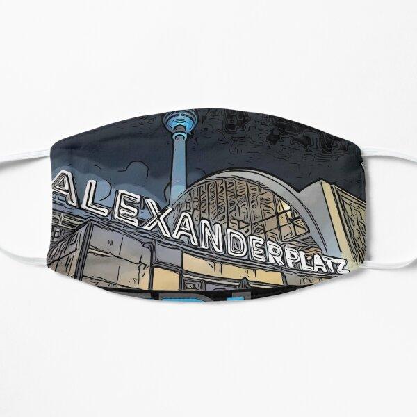 Alexanderplatz - Berlin Nights- black letter block Mask