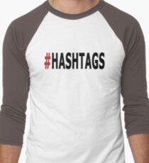 Twitter Hashtag Men's Baseball ¾ T-Shirt