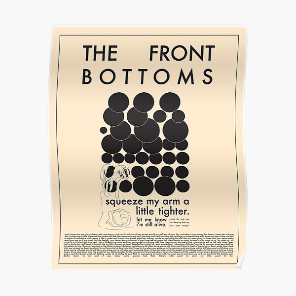 Pale Beneath The Tan (Squeeze) by The Front Bottoms Poster