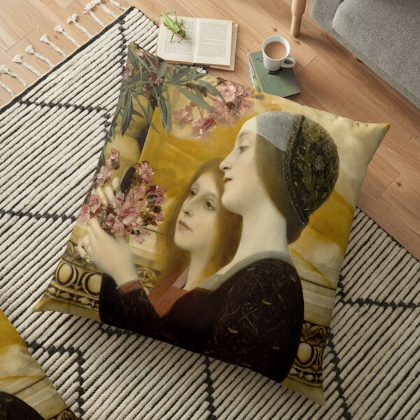 """Gustav Klimt """"Zwei Mädchen mit einem Oleander"""" Bodenkissen"""