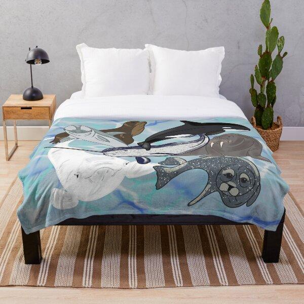 Marine Mammals  Throw Blanket