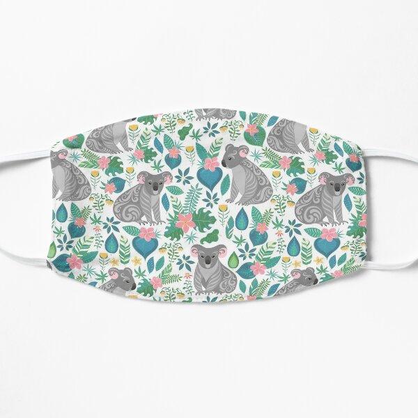 Floral Koala Flat Mask