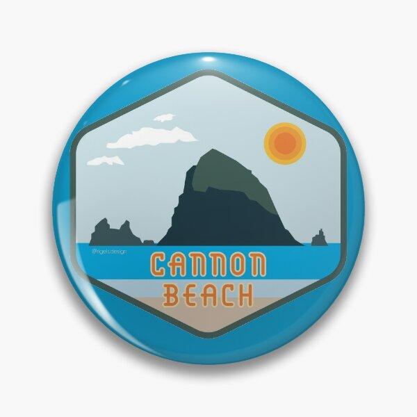 Cannon Beach Haystack Rock Badge Pin