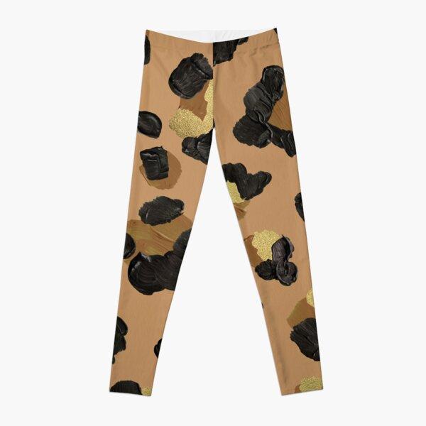 Leopard Print – Neutral & Gold Palette Leggings