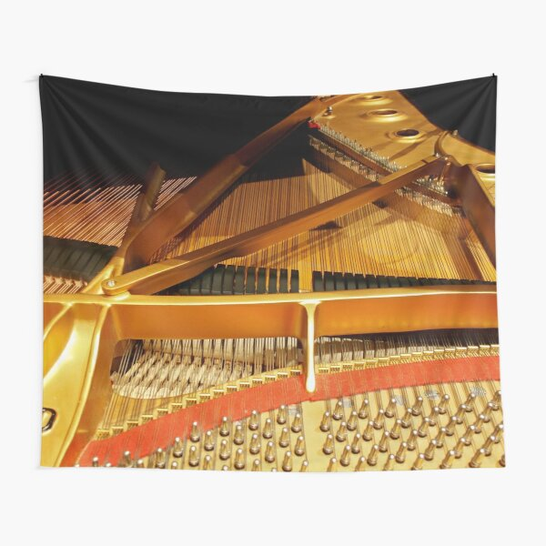 Inside a Steinway Concert Grand  Tapestry