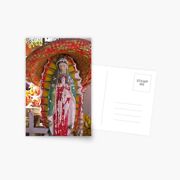 our lady of the sombrero Postcard