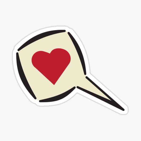 Speak Love! Sticker