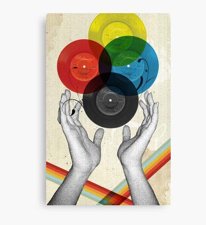 CMYK - the creation of retro Canvas Print